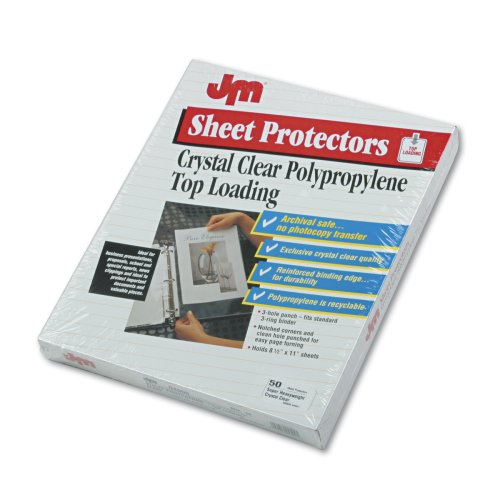 UPC 089612045005, Oxford 04500 Top-loading clear poly sheet protectors w/reinforced edge, super gauge, 50/box