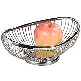 Kesper 90841 Fruit/Bread Basket 10.04'' x 6.89''x 3.74'' of metal, Silver