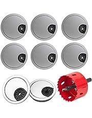 Anyasen 8 stuks Bureau Kabel Grommet ronde grommet in plastic Kabel Outlet Cover Grommet Tafel Draad Organizer met 1 stuk Gatzaag 60mm voor Bureau Tafel Kabel Netjes