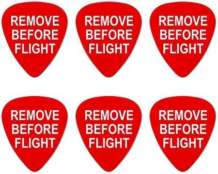 Quitar antes de vuelo avión alerta – púas de guitarra de calibre ...