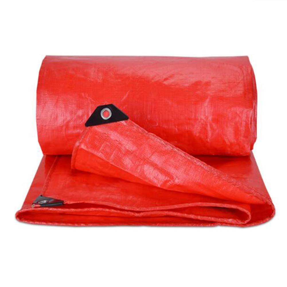 MuMa Plane Rot Verdicken Wasserdicht Sonnencreme Schatten Feier Besonders Angefertigt Kunststoff (größe   4  6M)