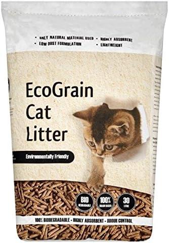 Arena para gatos EcoGrain: Amazon.es: Productos para mascotas