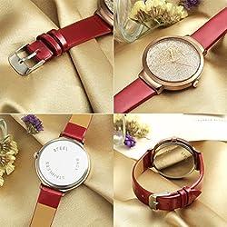 Unisex Crown Sport Watch Yuaboz.H Retro Design Leather Band Analog Alloy Quartz Wrist Watch (White)
