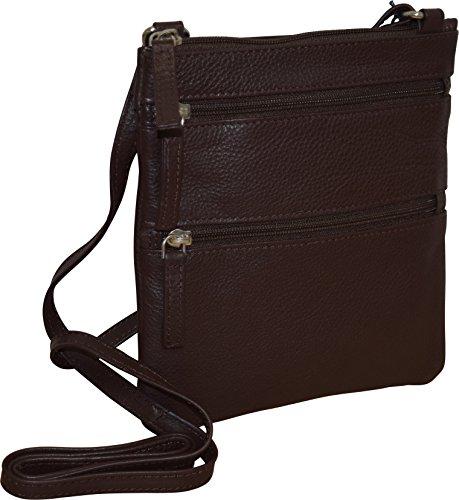 Pielino Women's Genuine Leather Crossbody Bag (Brown)