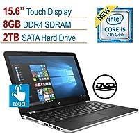 2018 HP 15.6' Touchscreen Laptop PC, Intel Core i5-7200U, 8GB DDR4, 2TB HDD, Intel HD Graphics 620, 802.11ac, Bluetooth, DVD RW, USB 3.1, HDMI, Webcam, Windows 10 Home, Silver