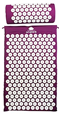 Acupoint Acupressure Mat Pillow Set - Back And Neck Pain Relief Acupuncture Mat - Reflexology Massage Mat Relieves Stress And Sciatic Pain, Coccyx & Insomnia.