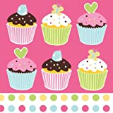 16-Count Paper Lunch Napkins, Sweet Treats