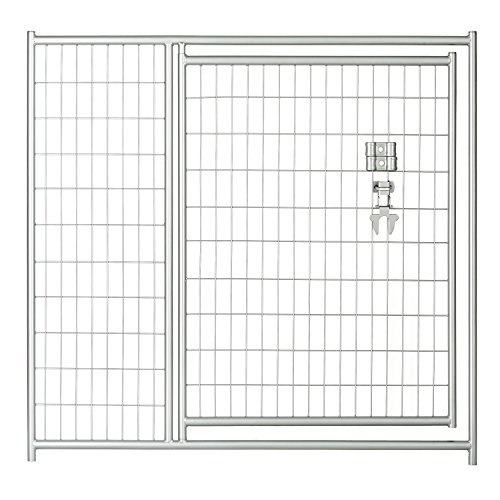 Lucky Dog 4'H x 5'W Silver Welded Wire Modular Gate - 36