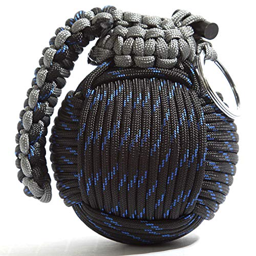 Holtzman's Survival Kit Paracord Grenade The #1 Best 48 Tool Emergency kit (Blue/Black)