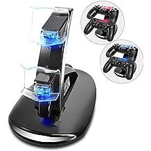 Driver De PS4Cargador Dual USB cargador soporte estación de acoplamiento de carga para driver de Sony Playstation 4PS4/PS4/PS4de Slim Pro