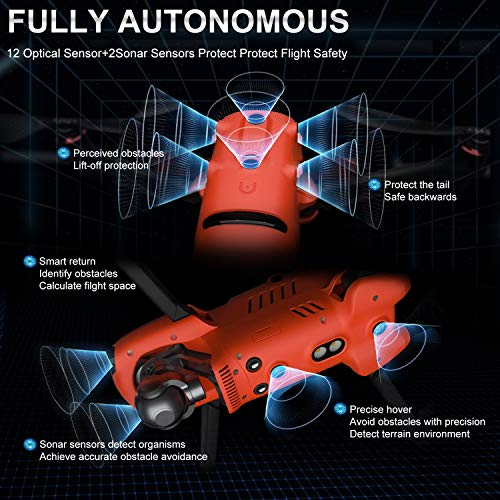 "Autel Robotics EVO 2 Quadcopter UAV - EVO II Series Drone, 3-Axis Gimbal 8K Camera with 48MP 1/2""CMOS Sensor(1-8x Digital Zoom/7680x4320 Video Resolution) 40mins Max Flight Time with Smart Controller"