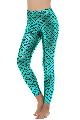 Women's Sexy Mermaid Fish Scale Hologram Stretch Soft