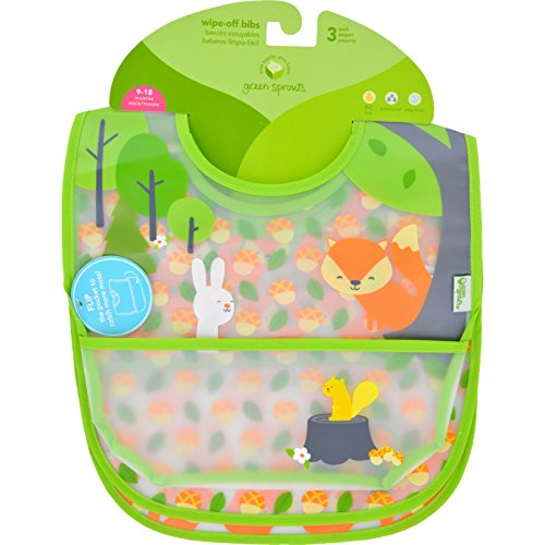 Green Sprouts Bib - Waterproof - 9 to 18 Months - Forest - Assorted - 3 Pack (Pack of 2)