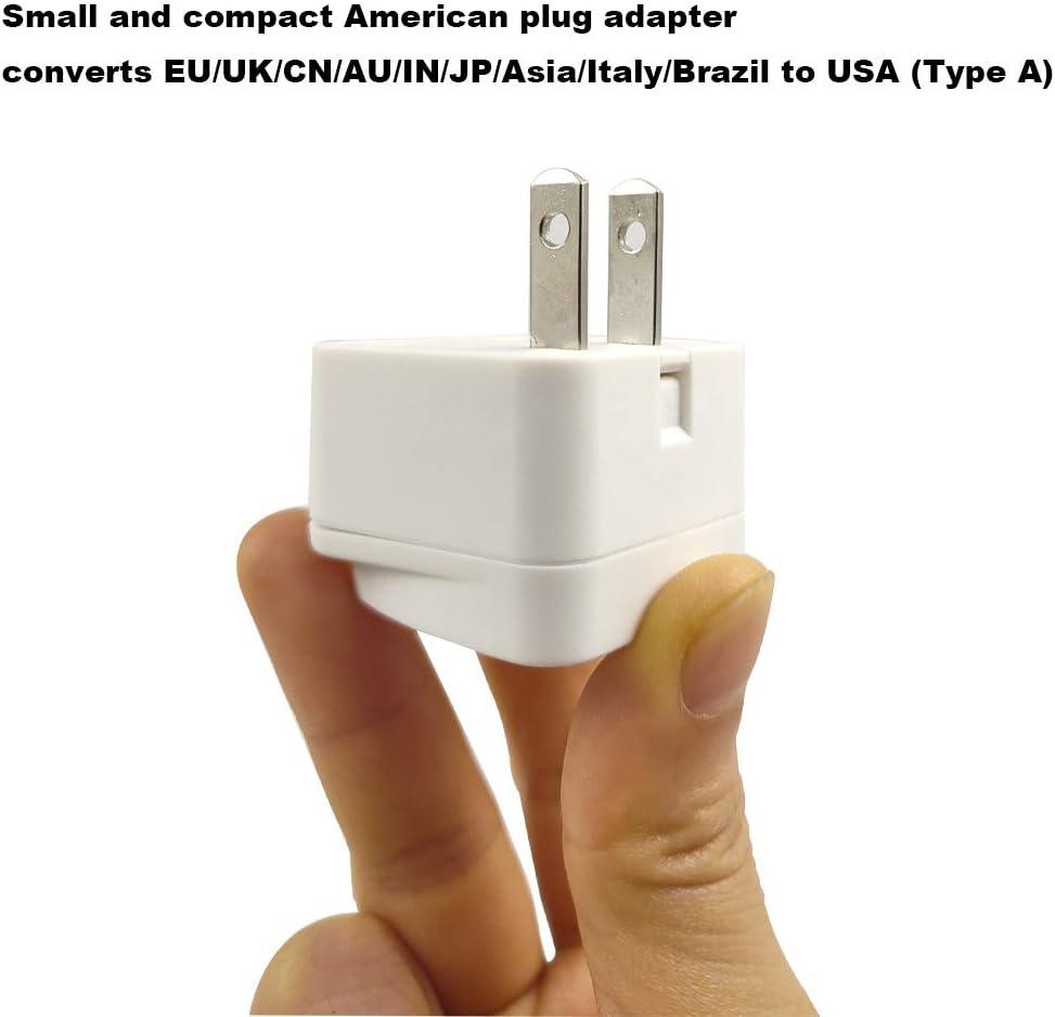 USA Jap/ón China Canad/á Hong Kong Neuftech 2 x universal adaptador de enchufe viaje para Reino Unido UK a EE.UU. etc UE