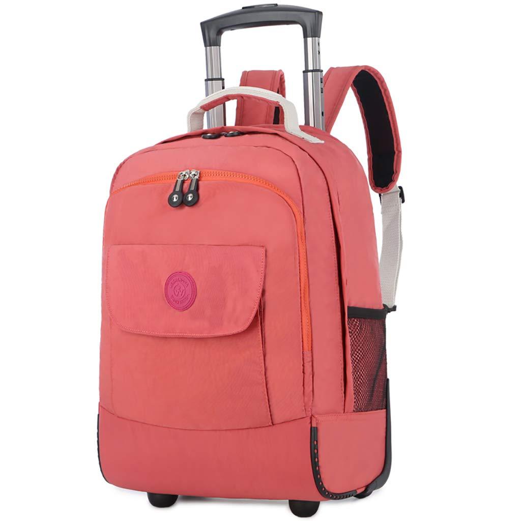学校のラップトップバッグを旅する少年のためのトロリーバックパック大容量ストレージウィールドローリングバックパック防水旅の荷物  C B07MPYH5MG