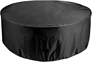 Garden Furniture Covers 239x58cm, Black Round Garden Table Cover Outdoor Patio Set Cover 420D Heavy Duty Oxford Fabric, for OutdoorGarden Furniture Cover