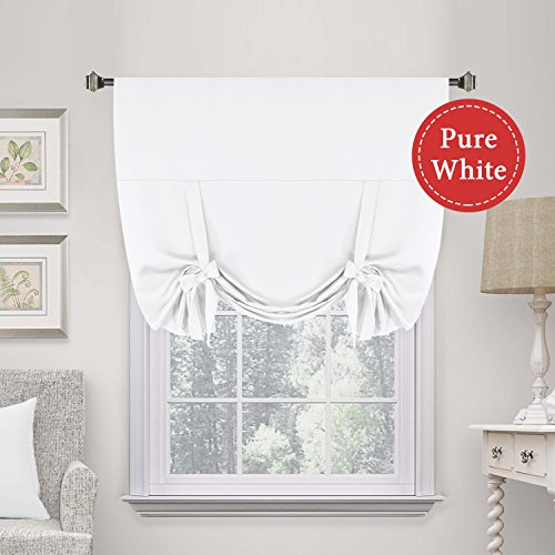 H.VERSAILTEX Premier Thermal Insulated Curtain Light Reducing Draperies Tie Up Window Shade (Rod Pocket Panel) - 42