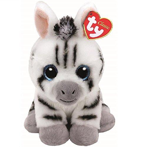 Stripes Zebra Beanie Babies 8 inch - Stuffed Animal by Ty (41198) (Beanie Baby Zebra)