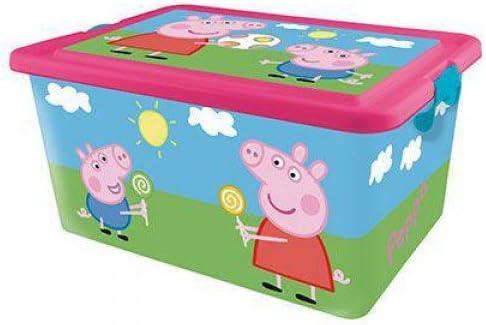 Peppa Pig Contenedor 23 litros con Tapa y Cierres, Caja ...