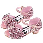 ❤️ Mealeaf ❤️ Toddler Kids Girls Pearl Butterfly-Knot Bling Single Princess Shoes Sandals(4.5-12Y)