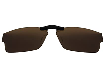 d3ad79c7a70 Image Unavailable. Image not available for. Color  Custom Fit Polarized CLIP-ON  Sunglasses For Oakley Airdrop (57) OX8046 57X18 Brown