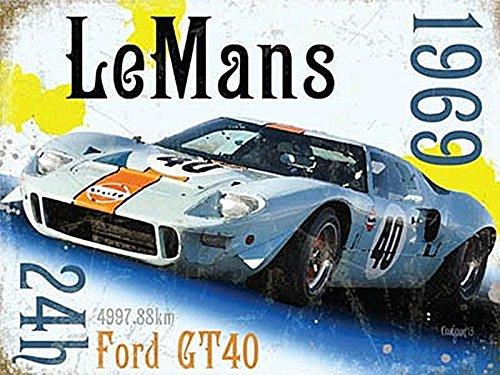 15 x 20 cm METALSIGN Original Metals Signs-Le Mans 1969 Ford GT 40