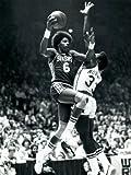 SJ0213 Julius Erving Dr. J Sixers Retro NBA 24x18 Print POSTER