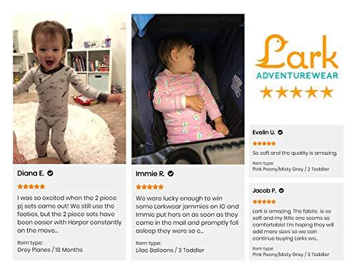 No Slip Footie Pajamas Lark Adventurewear: Premium Bamboo Zip Sleeper , Baby, Boy, Girl 3M-2T
