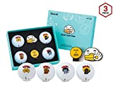 Volvik Kakao Friends Golf Ball S3 OK Edition (4 Balls + Ball Marker) + SuperDaddy Highlighter (Gift)