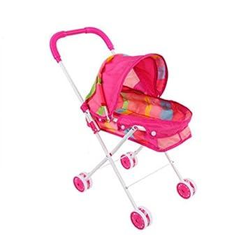 qm-h Pretend Play simulación carrito de bebé para Kides juguetes rosa B (LHW=10.220.114.2inches): Amazon.es: Juguetes y juegos