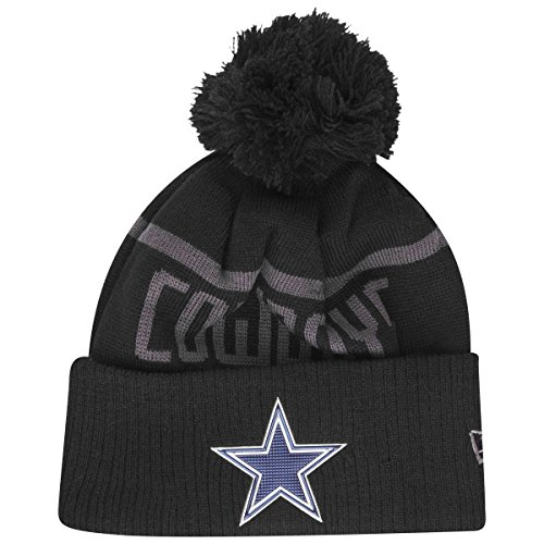 NewEra y NFL Black Coll Knit Bobble Cuff Beanie ~ Dallas Cowboys 60% de  descuento 8c0baf65cc3