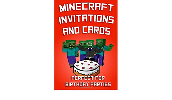 amazon com minecraft invitations and cards perfect for birthday