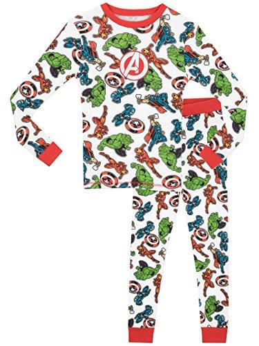 Marvel Avengers Boys' Avengers Pajamas Size 4T White ()
