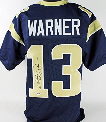 Rams Kurt Warner Authentic Signed Navy Blue Jersey Autographed PSA/DNA - Authentic Kurt Warner Jersey