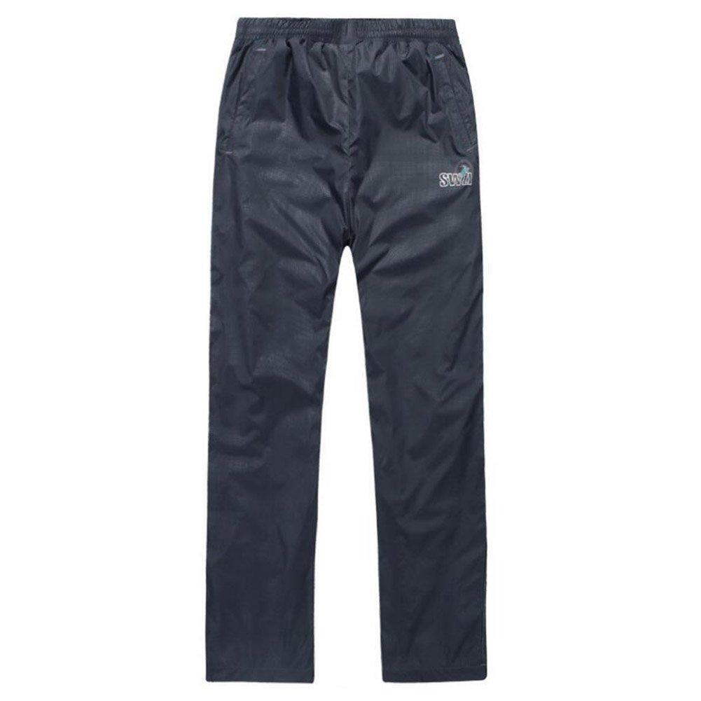 hibote niños a prueba de lluvia Pantalón impermeable 100% a prueba de viento calor respirable para los niños 150cm (azul oscuro)