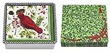Mariposa Beaded Napkin Box with Cardinal Napkin Weight & 2 sets of Napkins
