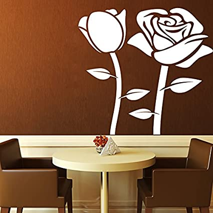 Buy Decor Kafe Home Decor Black Rose Wall Sticker Wall Sticker For Bedroom Wall Art Wall Poster Pvc Vinyl 40 X 40 Cm Online At Low Prices In India Amazon In