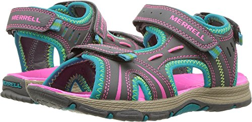 Merrell Panther Athletic Water Sandal , Blue/Pink/Green, 2 M US Little Kid