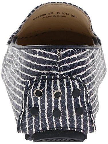 Cole Haan Femmes Cary Vénitien Mocassin Blazer Bleu / Blanc Optique Serpent Imprimer