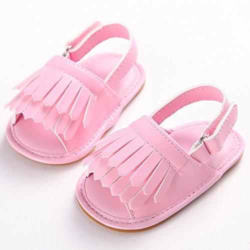 Pueri Zapatos para Bebés Niñas Primer Paso Zapatos de Suela Blanda Princesa Recién Nacido Rosa