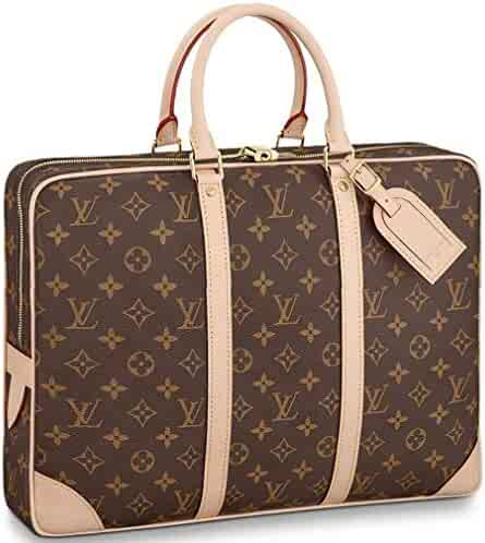 Louis Vuitton Monogram Canvas Porte-Documents Voyage Handle Handbag  Article  M40226 e24d637a7d99c