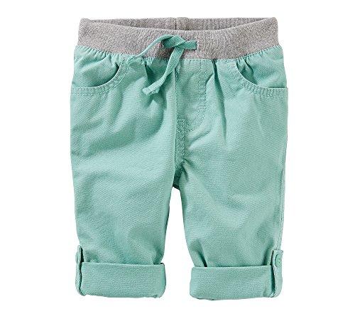 OshKosh B'Gosh Baby Boys' Pull-On Convertible Poplin Pants 9 (Convertible Poplin Pant)