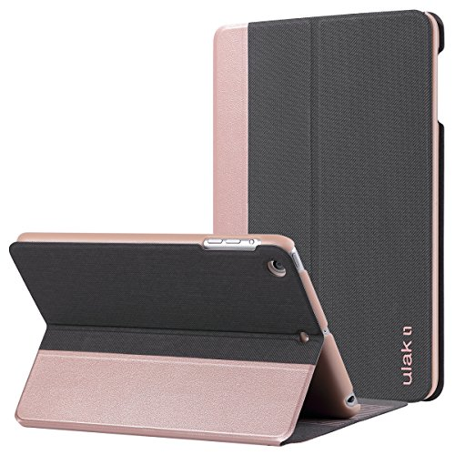 iPad Mini 2 Case,iPad Mini Case,iPad Mini 3 Case,ULAK Slim Fit PU Leather Folding Stand Folio Case Smart Cover for Apple iPad Mini 1/2/3 Lightweight with Auto Sleep/Wake Function (Rose Gold) (Ulak Apple Ipad Air Case Gold)