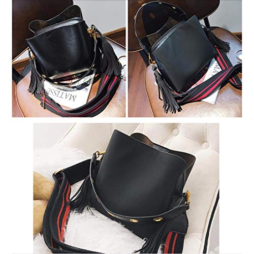 band crossbody bag wide Tidal bag ERLINGSAN bag Bag bucket tote Female Black XKB Shoulder wYExY8T0