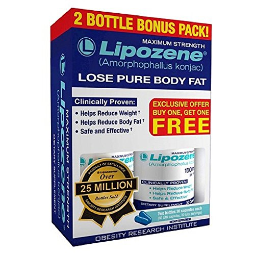 Lipozene Diet Pills - Maximum Strength Fat Loss Formula - 1500mg , 60 Capsules