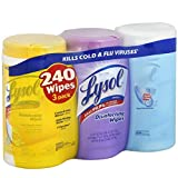 Lysol Disinfecting Cleaning Wipes, Variety Value Pack, 240 Count (Pack of 8)