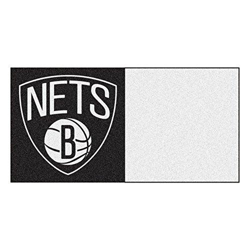 FANMATS NBA Brooklyn Nets Nylon Face Team Carpet Tiles by Fanmats