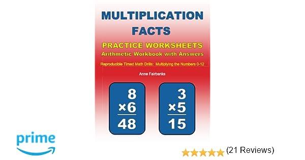 Workbook 3 grade worksheets : Multiplication Facts Practice Worksheets Arithmetic Workbook with ...