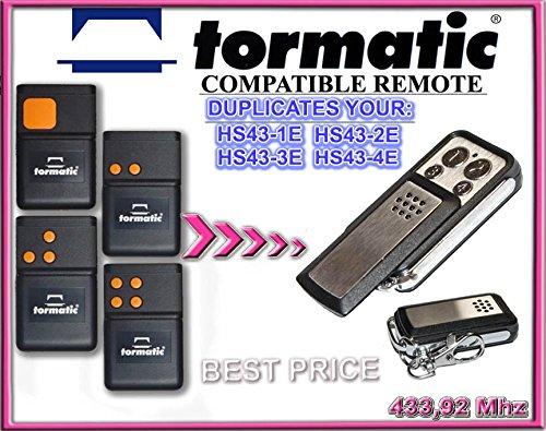 MHS43/ rolling code keyfob TORMATIC MHS43/ /2/NOVOTRON 302 433,92/mhz /4/NOVOTRON 304/compatible control remoto transmisor de reemplazo