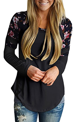 AlvaQ Women Long Sleeve Tshirts Cute Blouses Juniors Fashion 2017 Tops With...